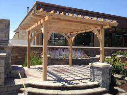 Pergola Post Design by Pergolas Fireplace Stone U0026 Patio