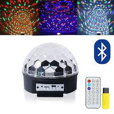 sound activated dj lights disco ball lights 9 colors rotating led dj light crystal magic