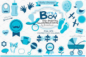 it u0027s a boy baby shower cliparts graphics creative market