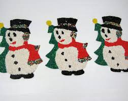 Christmas Decorations Indoor And Outdoor by Vintage Outdoor Christmas Decorations Etsy