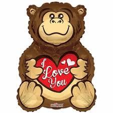 gorilla balloon bv gorilla you helium shape balloon s day shape