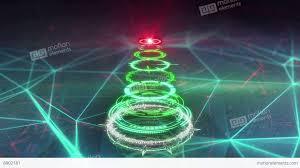 futuristic style christmas tree futuristic style loop animation 4k 4096x2304