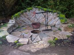 Backyard Patio Ideas Stone Garden Appropriate Design Of Fire Pit Ideas Stone Square Stone