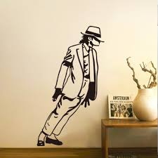 mj new design vinyl wall stickers michael jackson home decoration