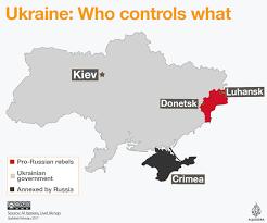 Ukraine On World Map by Ukraine Who Controls What Al Jazeera