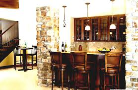 decor white ceiling for basement bar ideas plus stone wall and