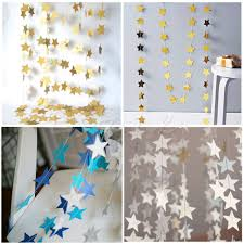 colorful star shape hanging paper garlands flora string party home