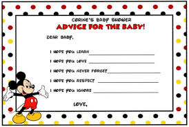 free printable mickey mouse baby shower invitation