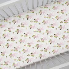 Deer Crib Bedding Pink Floral Deer Head Crib Sheet Carousel Designs