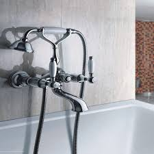 bath taps bathroom hunter niku victorian traditional wall mounted bath tap and shower