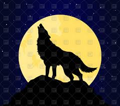 howling wolf clipart wolf howling at the moon pencil and in