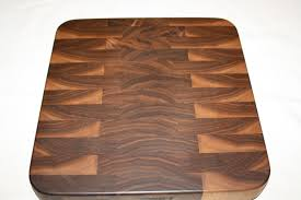wood products cutting boards butcher blocks hand crafted by eric item eg402 end grain walnut 12 3 8