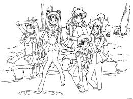 manga girls coloring pages sheets online printable