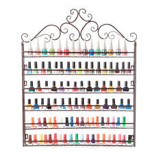 5 tier metal wall mount nail polish organizer rack display stand