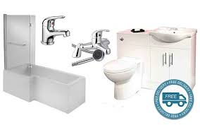 Furniture Bathroom Suites L Shaped Shower Bath Bathroom Suite Vanity Furniture Taps