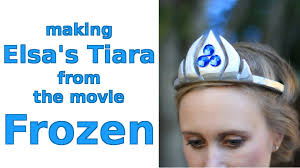 halloween crowns and tiaras diy making elsa u0027s tiara from the movie frozen for halloween youtube
