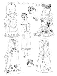 victorian paper doll printed magnet paper cut