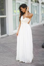 maxi dresses white lace maxi dress with open back and frayed hem maxi dresses
