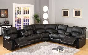 Vintage Leather Recliner Furniture Fancy Black Sectional Sofas With Recliners Endearing