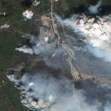 Alberta Wildfire Satellite Images by Fort Mcmurray Wildfire Data Available Under Open License