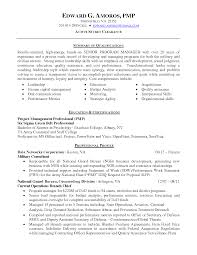 Technical Program Manager Resume Pmp Resume Examples Sample Resume Template Students First Job