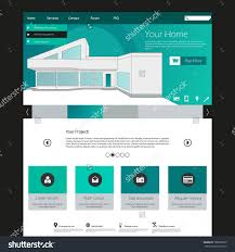 flat web design elements templates for website with minimalistic