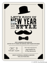 new years tie vintage mustache bow tie new years invitation new years