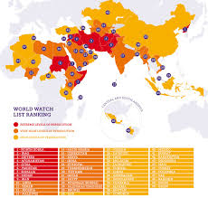Religion World Map by This Map Shows Countries Where People Face Persecution For Their