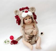 Baby Lion Costume Handmade Baby Photo Props Newborn Photography Props Toddler