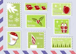 christmas collections postage st christmas collections design element vector