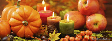 Facebook Thanksgiving Thanksgiving Candles Pumpkin Fruit Facebook Cover Holidays