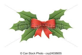 leaf ribbon ribbon bow with green holy leaves decorative christmas holy