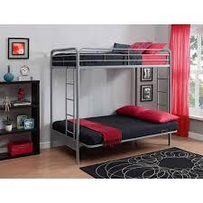 over futon metal bunk bed twin sofa college home kids teens