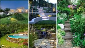 15 enchanting sloped yard decoration ideas you will adorn modern