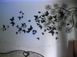 d paper butterfly new picture butterfly wall art home decor ideas