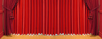 european classical ornate stage curtain panels background