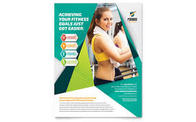 fitness flyer template fitness trainer flyer template design
