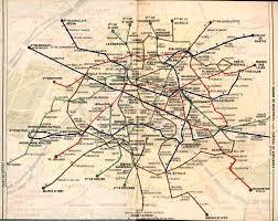 Mta Bus Route Map by Map Of Paris Metro 1949 Maps Pinterest Paris Metro Rapid