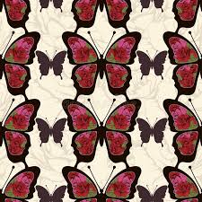 abstract pattern butterfly abstract butterfly with ornaments of roses flowers seamless pattern
