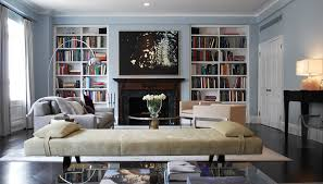 Fireplace Bookshelves by Modern Living Room Bookshelves Design Ideas With Long White Chair
