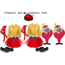 Tweedle Dee Tweedle Dum Halloween Costumes Alice Wonderland 3 6 Tweedle Dee U0026 Tweedle Dum Polyvore