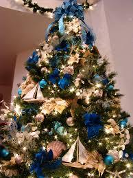 Blue Christmas Trees Decorating Ideas - ocean themed christmas trees neologic co