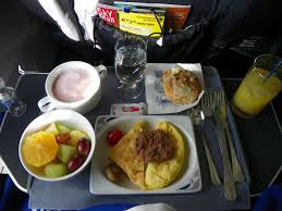 hd united airlines 737 900 food service in first class