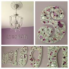 Little Girls Bedroom Ideas Diy Jeweled Wooden Letters For Little Girls Room Future