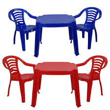 kids plastic table and chairs childrens kids plastic table and chairs red or blue nursery sets