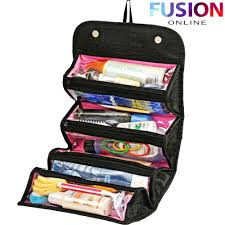 makeup travel bag images Roll n go makeup case cosmetic bag roll up travel pouch smart jpg