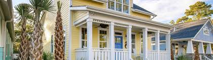 exterior and interior views at the cottages at ocean isle beach nc