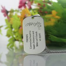 Dog Tag Necklace Custom Titanium Steel Best Friends Dog Tag Necklace With Name Or Words