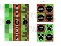 free minecraft banner u0026 toppers baby shower ideas themes games