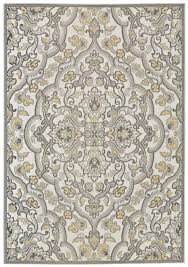 Polypropylene Area Rugs by Antique Collection Power Loomed Polypropylene Area Rug In Citron